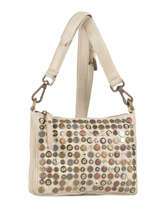 Sac Bandouliere Porte Travers Studs Leather Basilic pepper Gray studs 5778