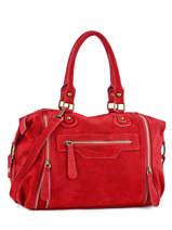 Sac Shopping Velvet Cuir Milano Rouge velvet VE160615