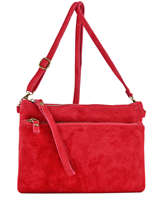 Sac Bandouliere Porte Travers Velvet Milano Red velvet VE161214