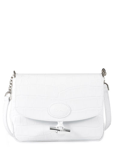 Longchamp Sac porté travers Blanc