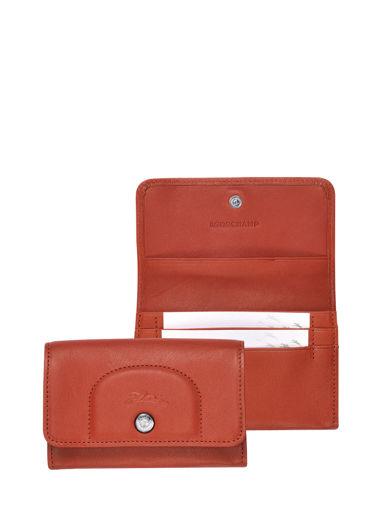 Longchamp Le pliage cuir Porte monnaie Rouge