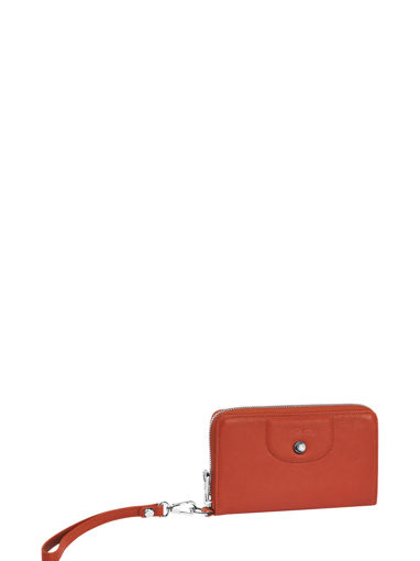 Longchamp Le pliage cuir Wallet Red