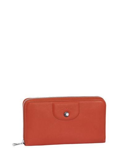 Longchamp Le pliage cuir Portefeuille Rouge