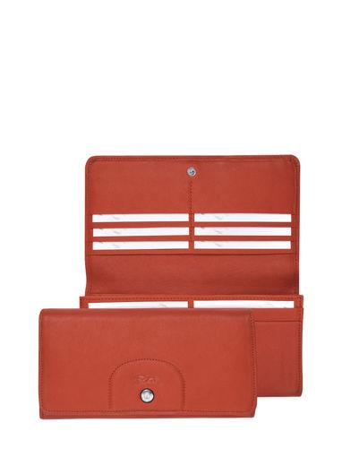 Longchamp Le pliage cuir Wallet Red