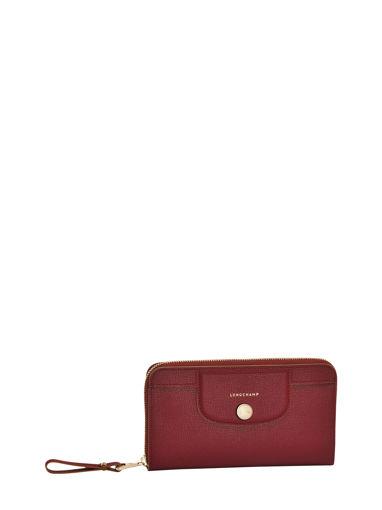 Longchamp Le pliage héritage Portefeuille Rouge