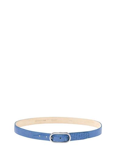 Longchamp Roseau Croco Ceinture Bleu