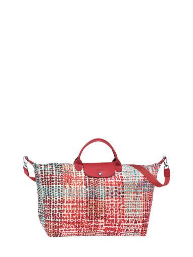 Longchamp Sac de voyage Rouge
