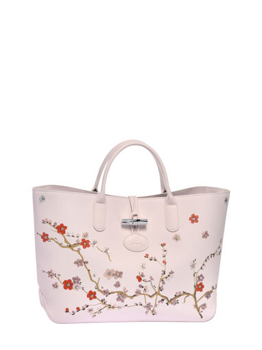 Longchamp Sac porté main Rose