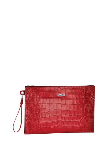 Longchamp Roseau Croco Pochette/trousse Rouge