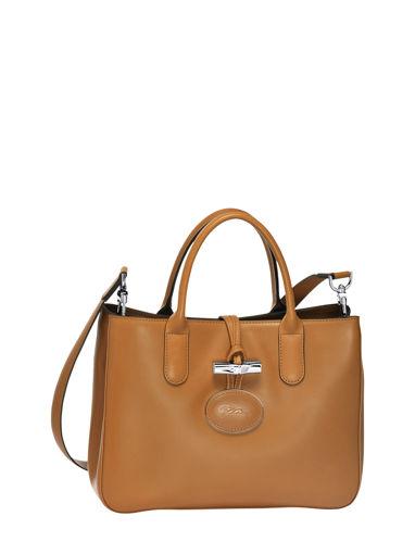 Longchamp Roseau héritage Sac porté main Beige