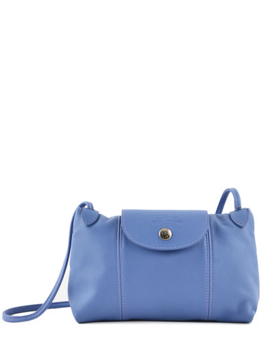 Longchamp Le pliage cuir Messenger bag Blue