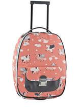 Valise Souple Bagage Jeune premier Pink bagage T16