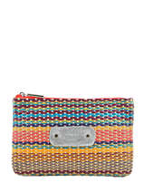 Trousse Cuir Mila louise Rouge straw 16962W