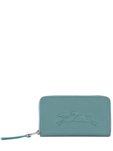 Longchamp Le foulonné Portefeuille Bleu
