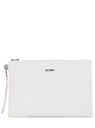 Longchamp Clutch / cosmetic case White