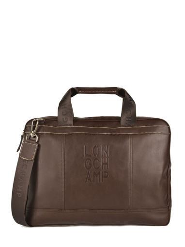 Longchamp Cavalier Briefcase Brown