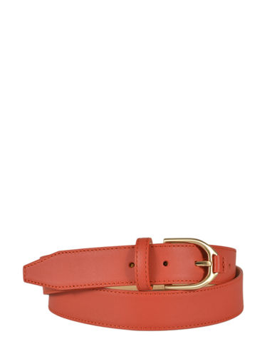 Longchamp Belts Red