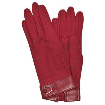 Longchamp Balzane Gants Rouge