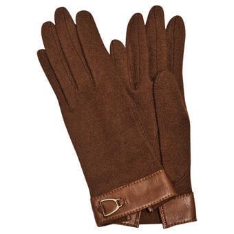 Longchamp Balzane Gloves Brown