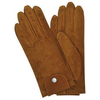 Longchamp Le pliage cuir Gloves Brown