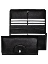 Longchamp Le pliage cuir Wallet Black