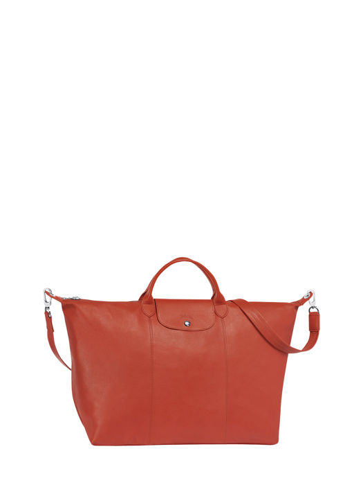 Longchamp Le pliage cuir Travel bag Red