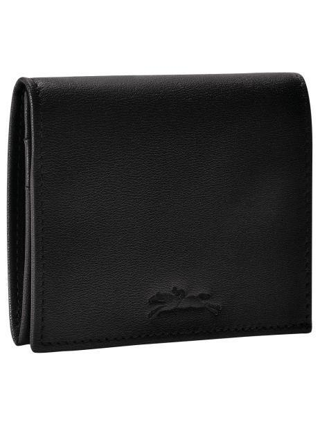 Longchamp Baxi cuir Coin purse Black