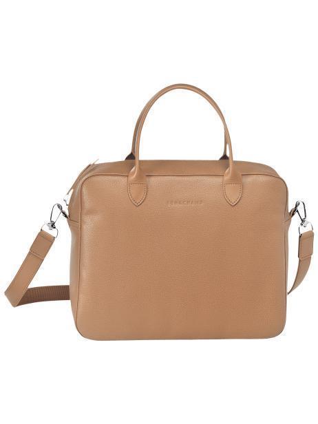 Longchamp Le foulonné Briefcase Beige