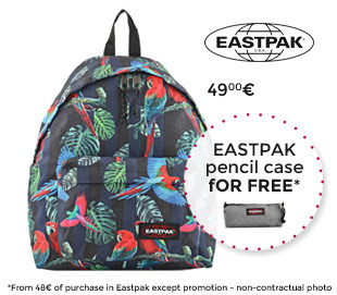 eastpak backpack with free pencil case