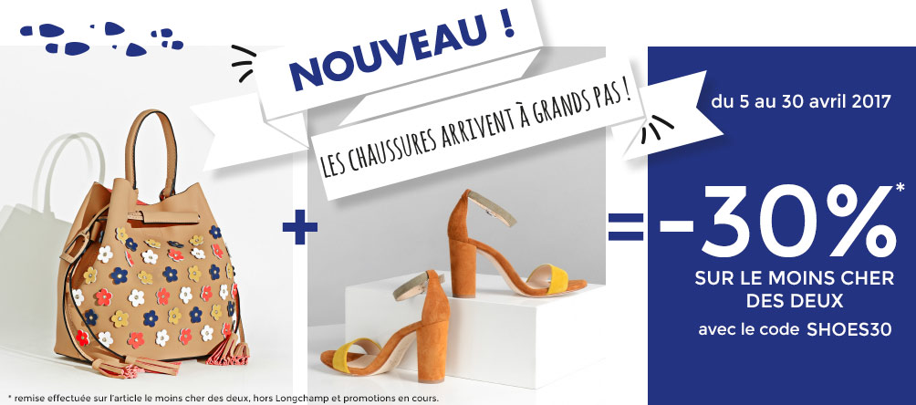 offre chaussure sac main promotion